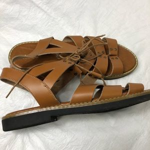 Mila Paoli leather gladiator style sandals Sz 10